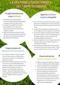 copertina brochure gestione ecosostenibile tappeto erboso